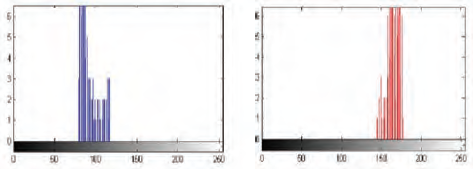 Fig. 9 Histograms of fire region of YCbCr image. Histogram